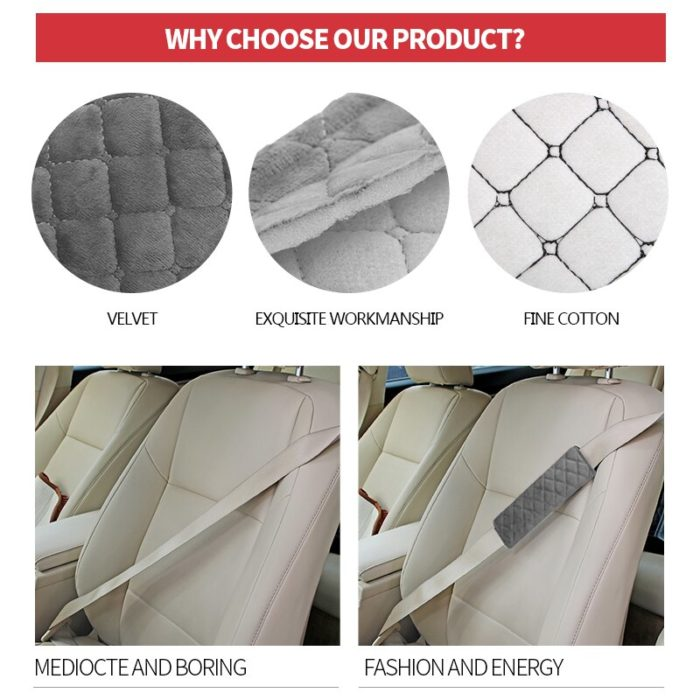 Seat Belt Shoulder Pad Plush Cover