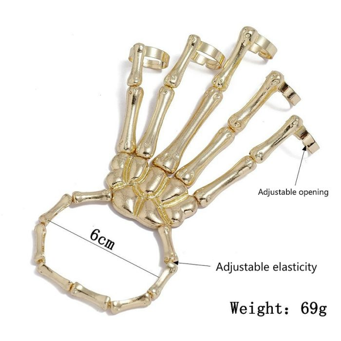 Skeleton Hand Bracelet Bangle