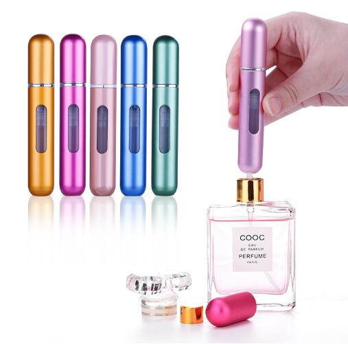 nbyaic high-end travel spray empty perfume sub-filling bottle bottom filling 8ml portable rechargeable carry-on small bottle