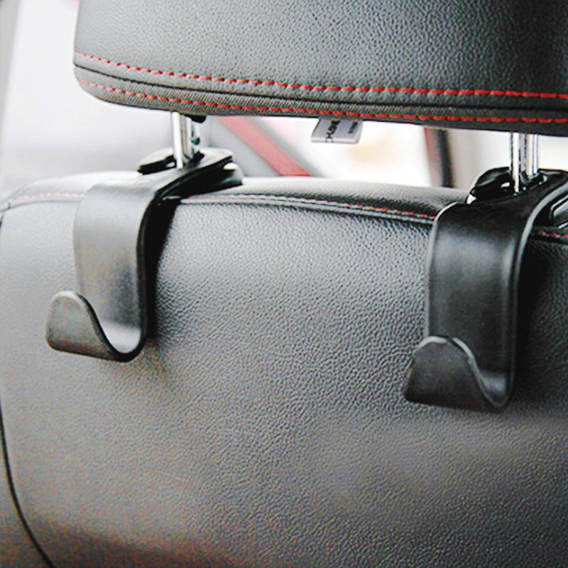Universal Car Headrest Back Seat Hook 4pcs Seat Hanger Vehicle Organizer Holder for Handbags Purses Coats and Grocery Bag