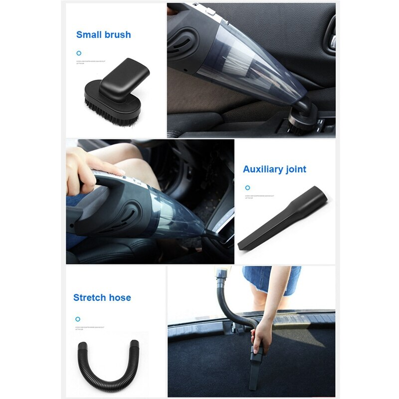 Rechargeable Car Vacuum Cleaner Handheld Powerful Cyclone Suction Cordless Cleaner Quick Charge for Car Home Pet Hair
