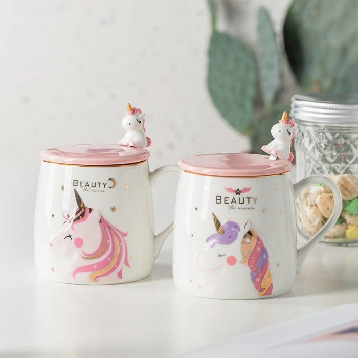 Unicorn Coffee Mug Cute Ceramic Cup