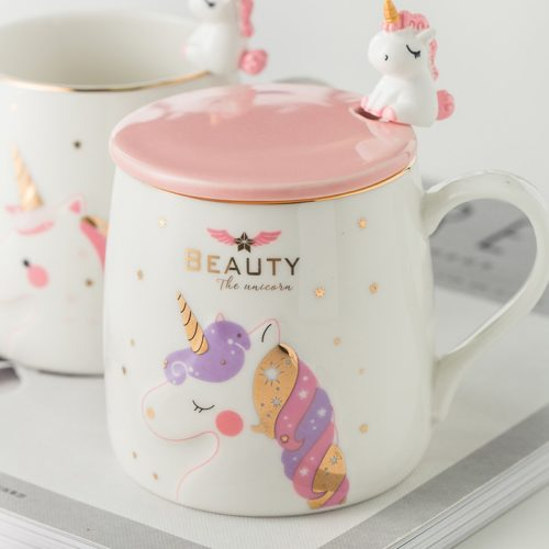 Unicorn Coffee Mug Cute Ceramic Cup