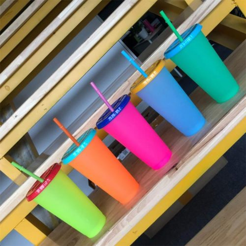 Color Changing Tumblers with Straw