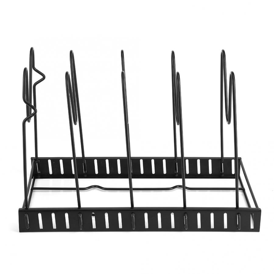 Multi-funtion Pot Pan Storage Rack 5 Tiers Pot Frying Pan Lid Storage Rack Organizer Kitchen Cookware Stand Holder