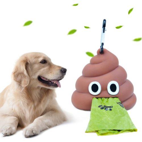 Dog Waste Bag Dispenser Poop Design