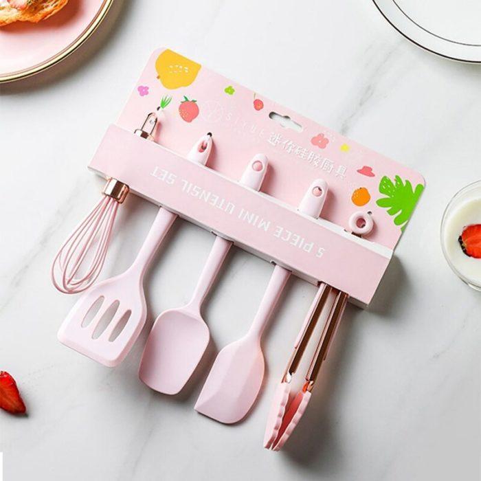 Silicone Kitchen Tools Set (5 Pcs)