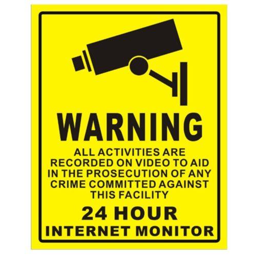 CCTV Sticker Waterproof Decal Sign