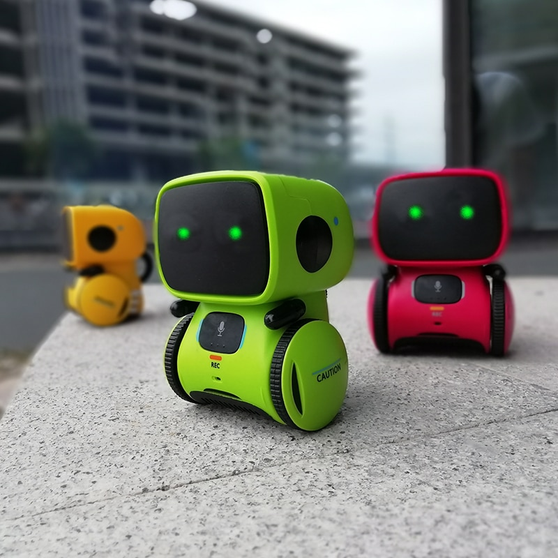 Smart Robot Toys Dance Voice Command Versions Touch Control Interactive Robotics Toys Boys Girls Recorder Xmas Gift for Kids
