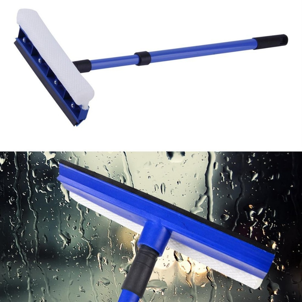 75CM Extendable Window Squeegee Cleaner Soft Rubber Head High Window Glass Scraper Brush Telescopic Bru Car Wiper Brushes Sale