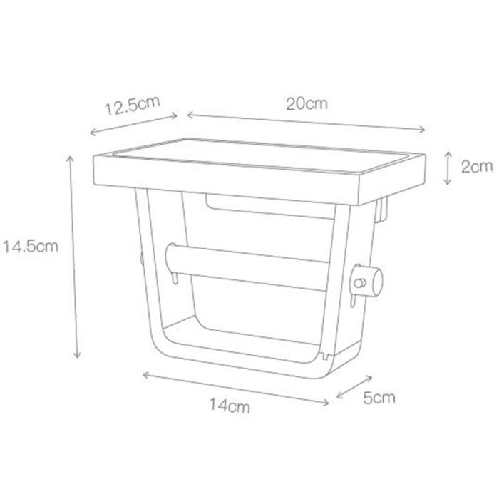 Wall-Mounted Wood Toilet Roll Holder