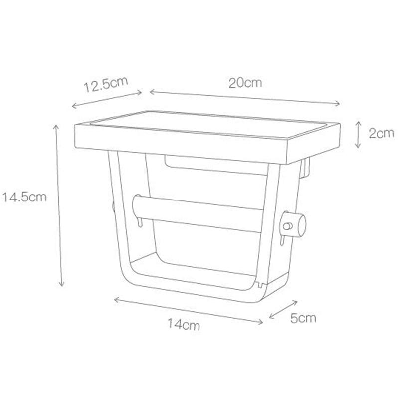 Bathroom Toilet Paper Holder Household Toilet Tissue Box Paper Tube Wooden Simple Toilet Roll Holder