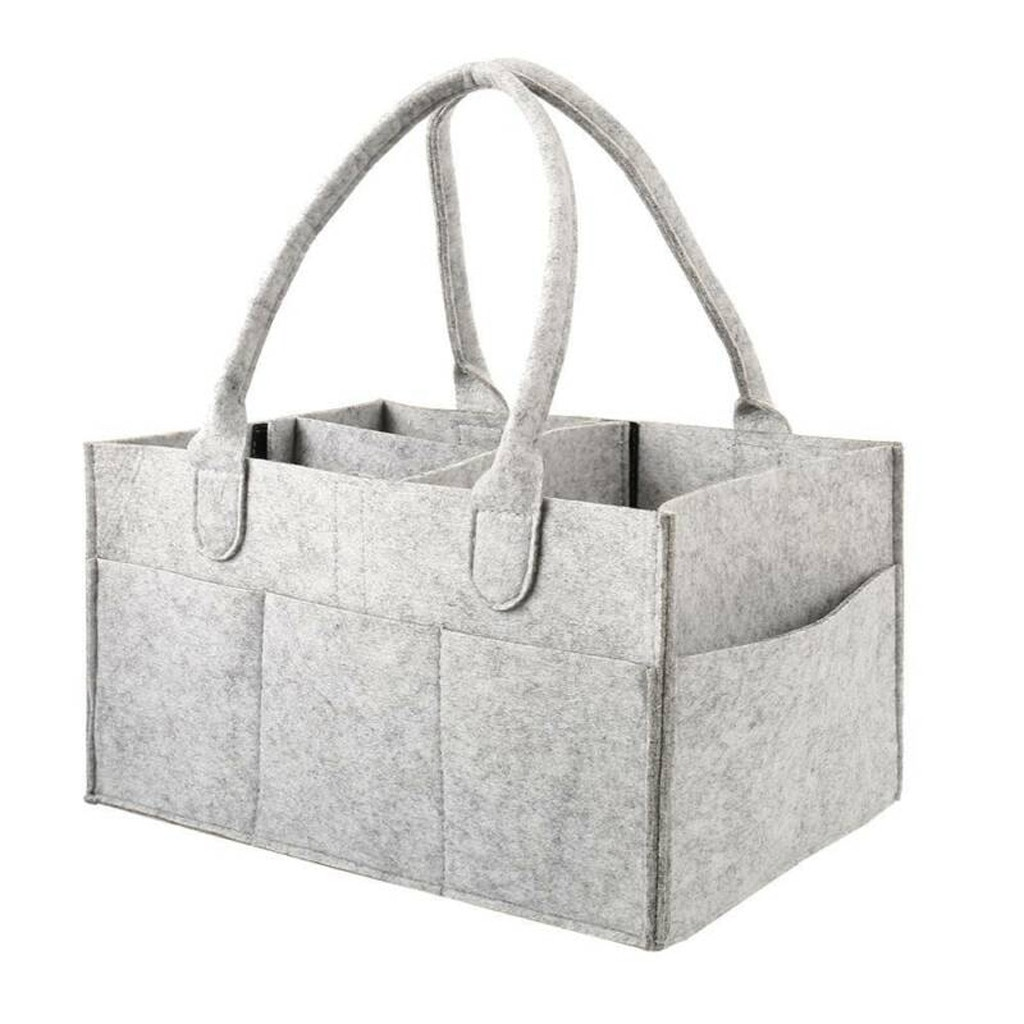 Baby Diaper Caddy Organizer Portable Holder Bag for Changing Table and Car, Nursery Essentials Storage bins Caddy Organizer