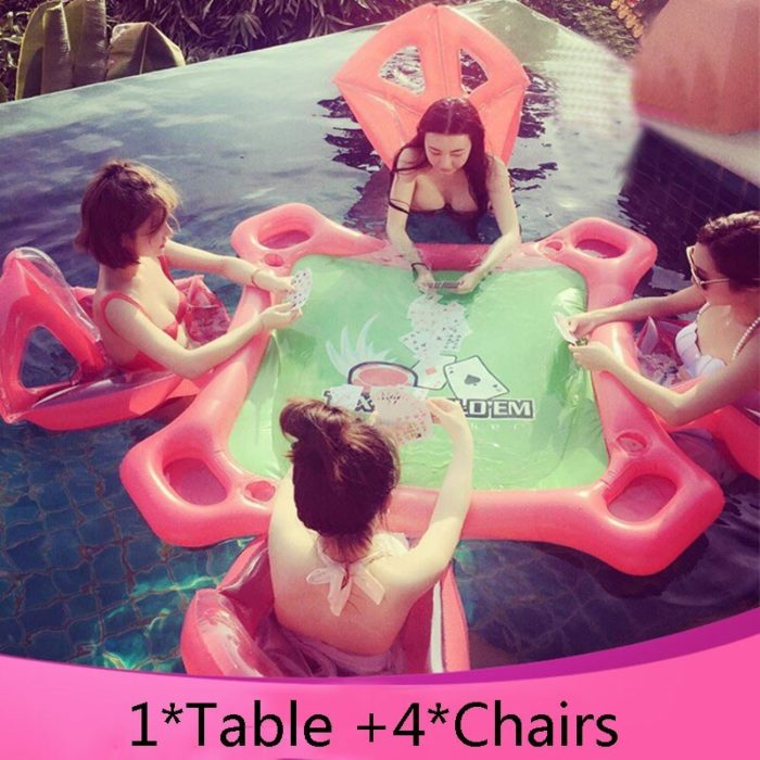 Floating Poker Table with Chairs