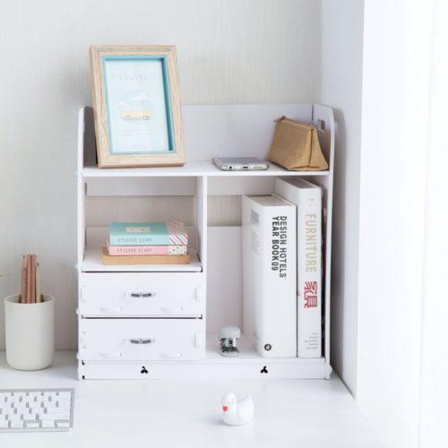 Wooden Small Desktop Shelf