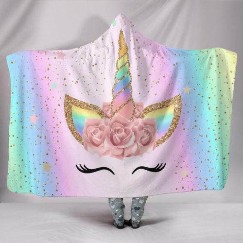 Unicorn Blanket with Hood
