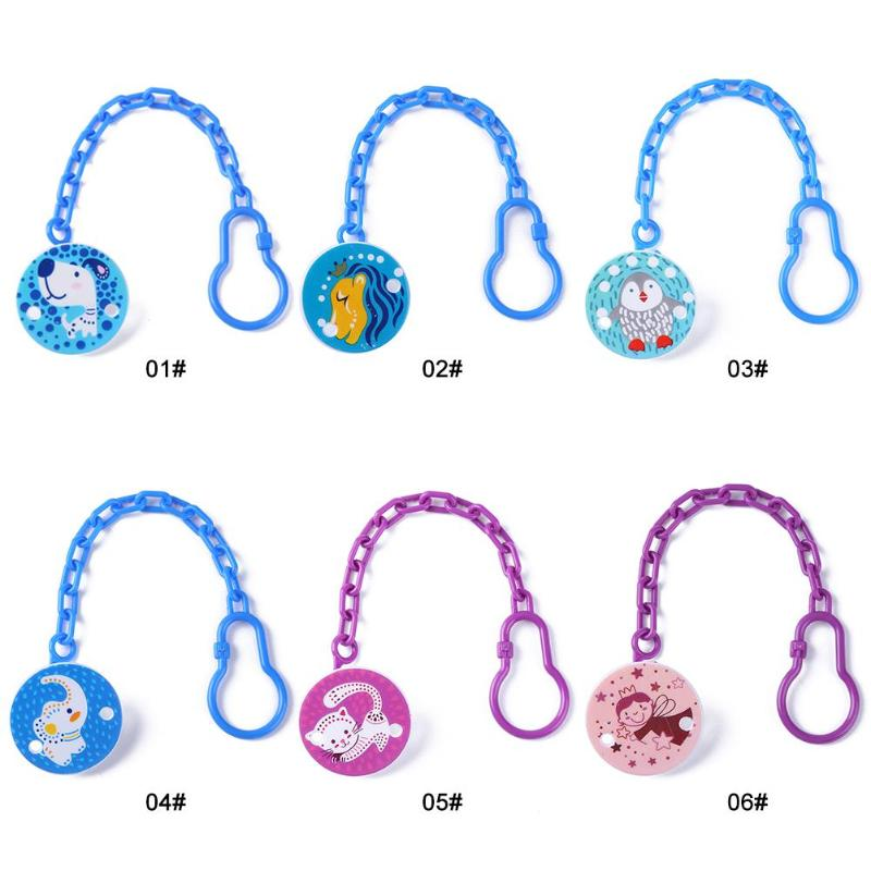 Toddlers Kids Pacifier Clips Soother Holder Cartoon Baby Pacifier Clip Pacifier Chain Dummy Clip Nipple Holder For Nipples