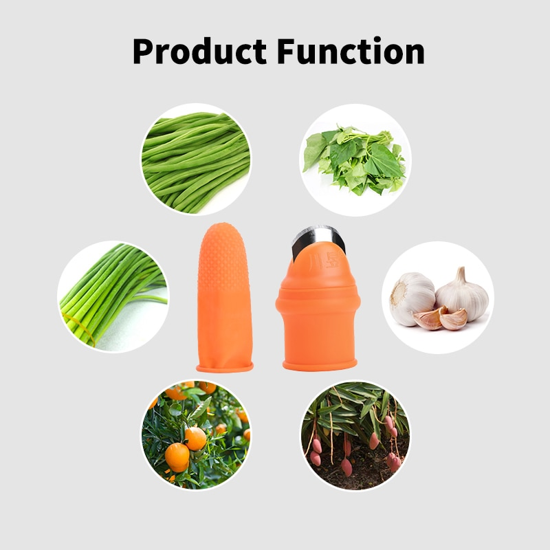 2020 New Silicone Thumb Knife Kitchen Knives Accessories Finger Protectors Protective Nails Cutter Garden Picking Plant Tool