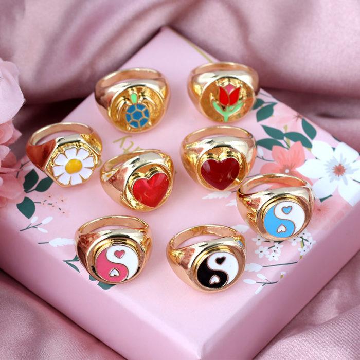 Yinyang Ring Metal Jewelry