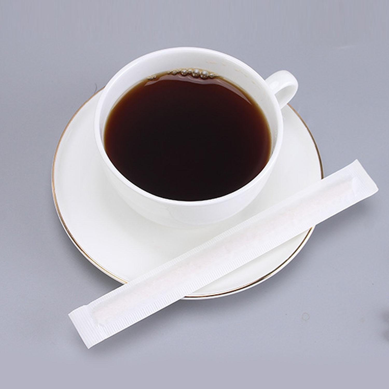 Behogar 100PCS 14cm Wooden Coffee Tea Ice Cream Popsicle Lolly Sticks Beverage Stir Stirrers DIY Hand Making Crafts Sticks Tools