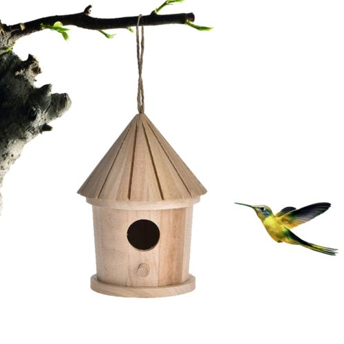 Wooden Bird House Hanging Nest