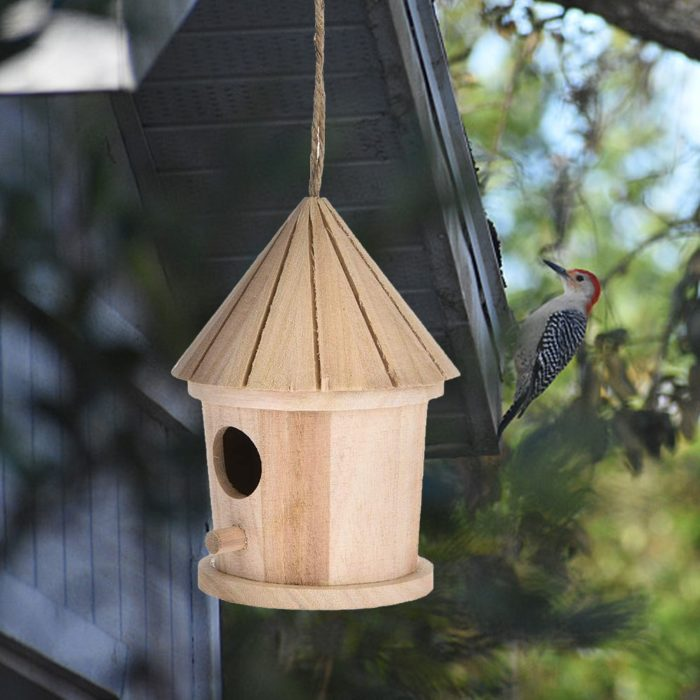 Wooden Bird House Hanging Nest