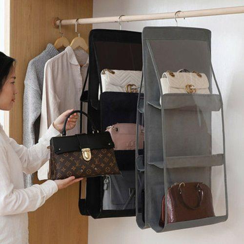 Handbag Storage Organizer 6 Pocket Bag Holder