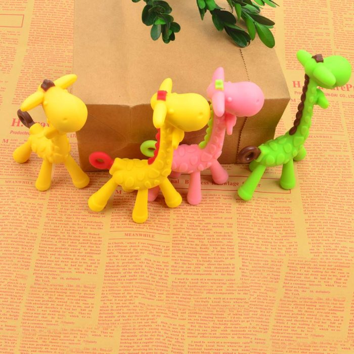 Giraffe Teething Toy Pacifier Chain Accessory