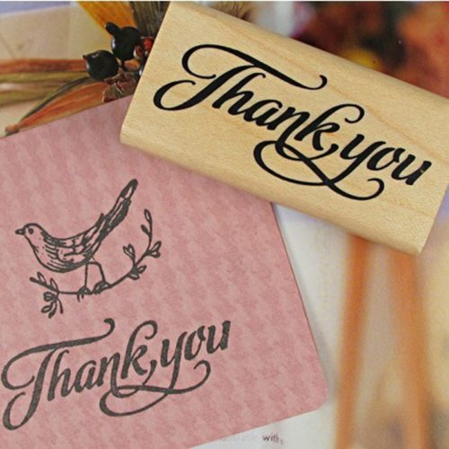 Thank You Stamp Wooden Stamp