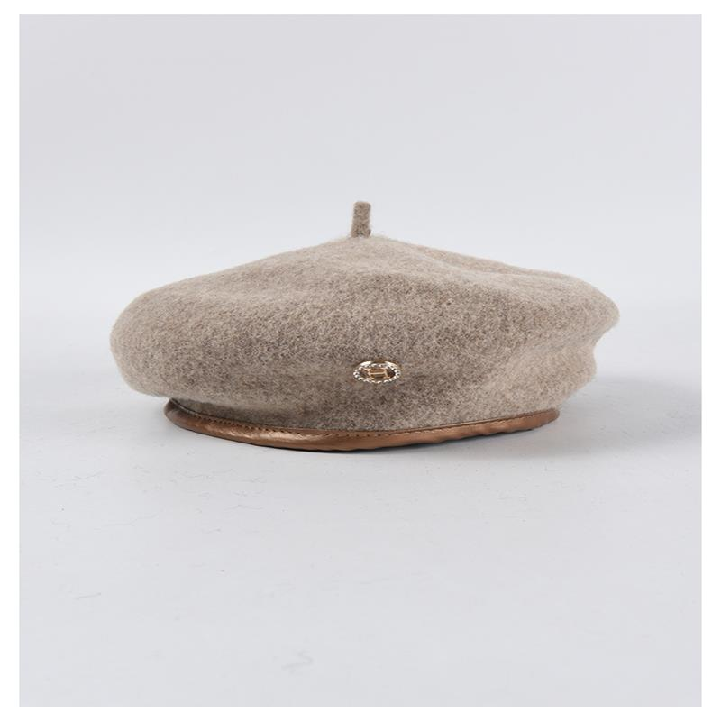 Wool Felt Winter Beret Solid Warmer Women Beanies Cap Classical French Style Beret Femme Beanies Cap Ladies Fascinator Hat