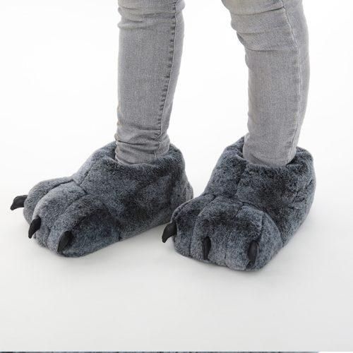 Paw Slippers Plush Footwear