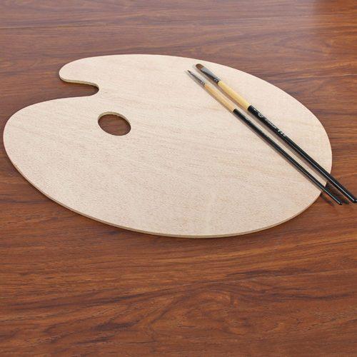 Wooden Paint Palette Artist's Tool