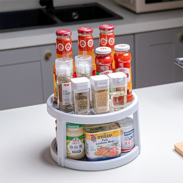 Spice Spinning Rack Two-Tier Organizer