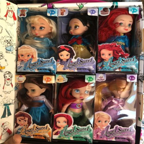 Mini Disney Princess Dolls Set of 6