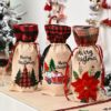 Christmas Wine Bag With Drawstring