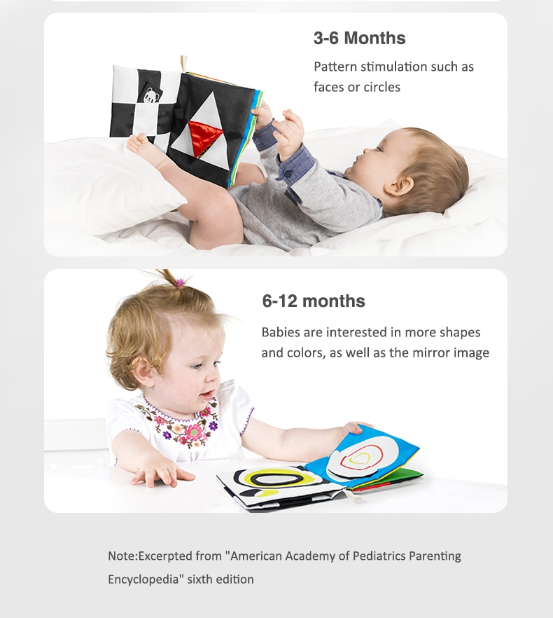 Baby Soft Book Educational Cloth Book
