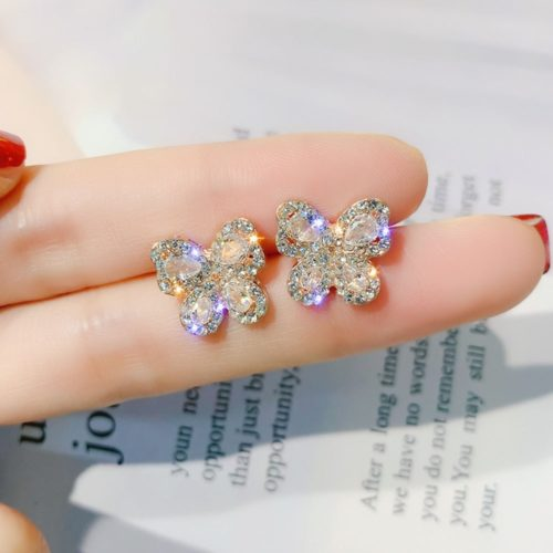 Butterfly Stud Earrings Ladies Jewelry
