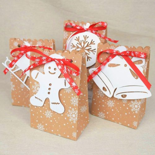 Christmas Paper Bags Gift Bags (12pcs)