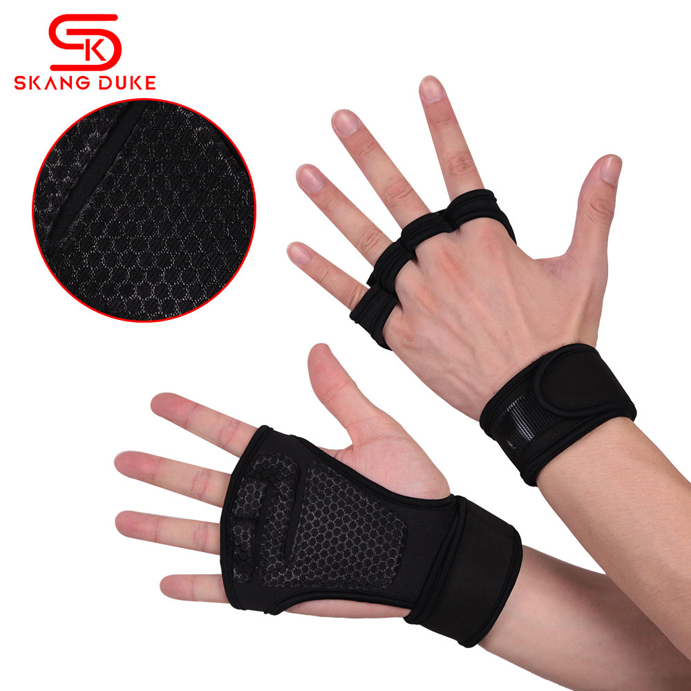 Weight Lifting Gloves Training Gym Grips Fitness Glove Women Men Crossfit Bodybuilding Gymnastics Wristbands Hand Palm Protector