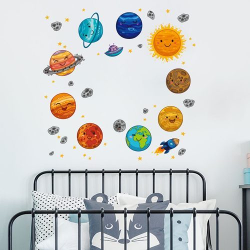 Solar System Stickers Wall Decor (5pcs)