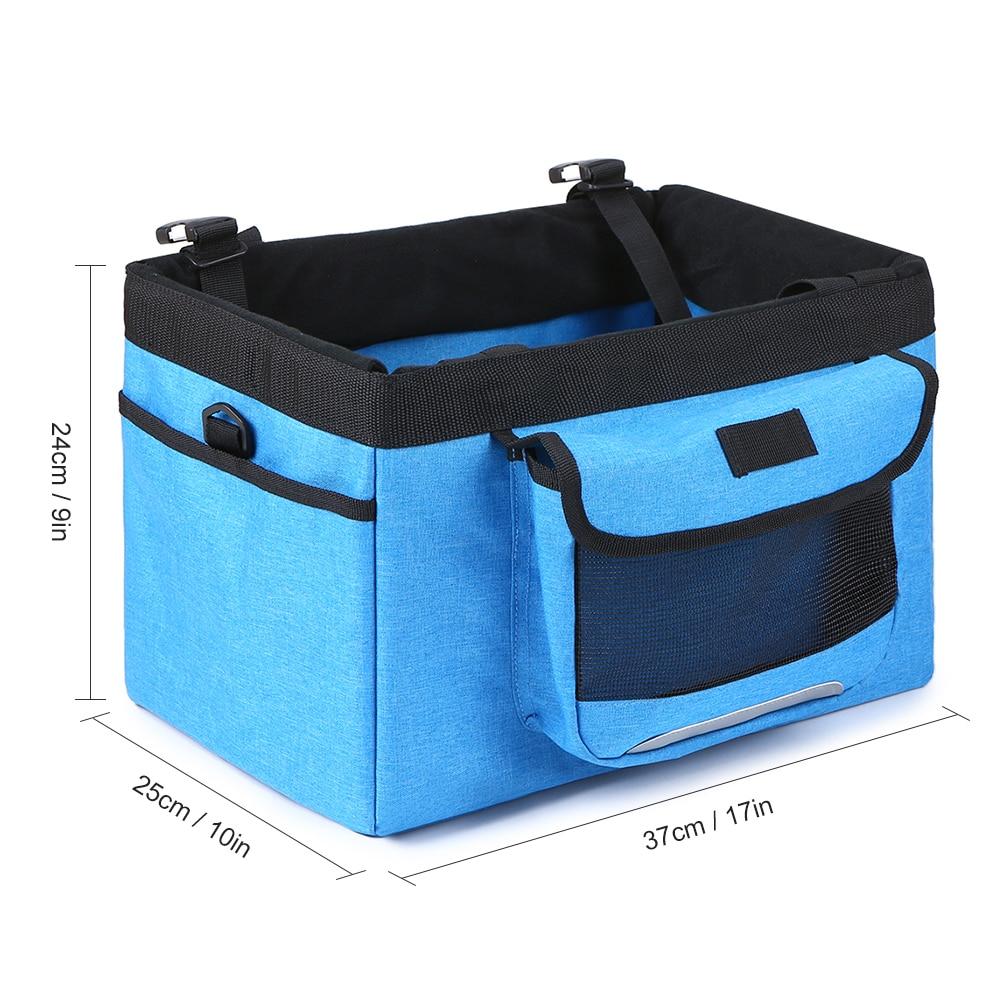 Lixada Foldable Bicycle Front Basket for Pet Removable Bike Pet Basket Pet Dog Cat Pet Carrier Camping Tote Bag