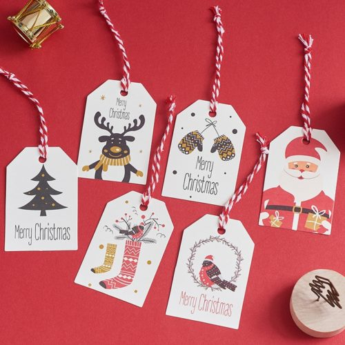 Christmas Gift Labels Paper Tags (50pcs)