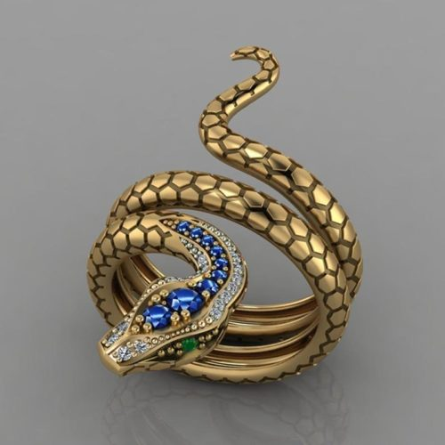 Serpentine Ring Snake Shape Ladies Ring