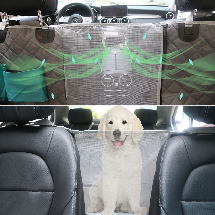 Pet Car Seat Cover Waterproof Dog Carriers Car Rear Back Seat Mat For Dogs Cats Hommock Non-slip Safety Dog Cushion Pet Supplies