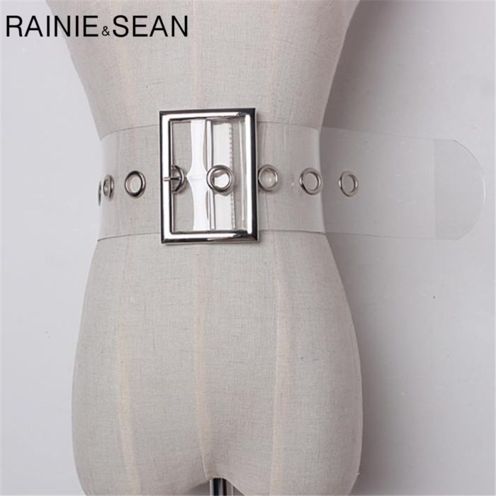 Transparent Belt Ladies Wide Clear Belt