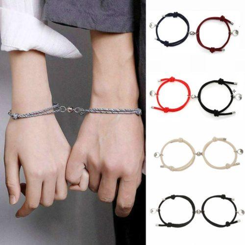 Couple Magnet Bracelet (2pcs)