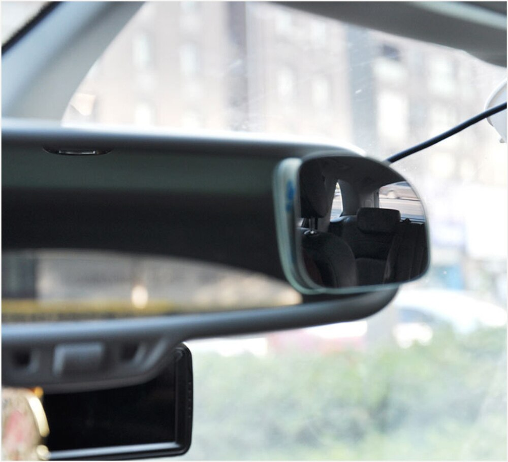 2pcs Car 360 Degree Framless Blind Spot Mirror Wide Angle Sector Convex Mirror Sector Side Blindspot Rearview Parking Mirror