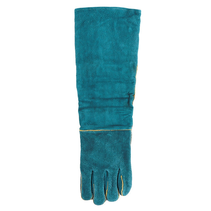 Hot Anti-bite Safety Bite Gloves For Catch Dog Cat Reptile Animal Ultra Long Leather Green Pets Grasping Biting Protective Glove