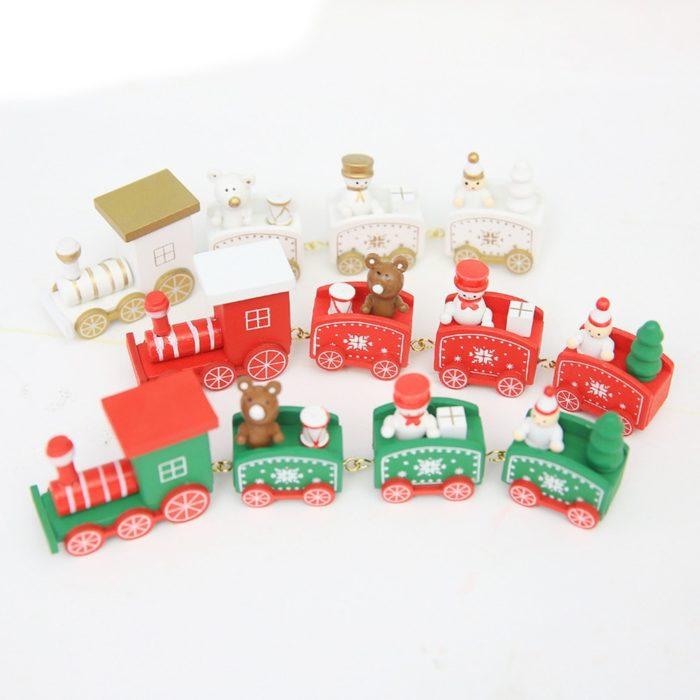 Christmas Train Wooden Ornament