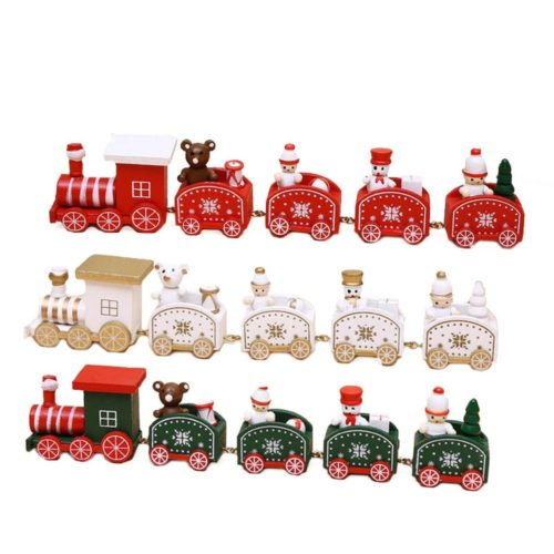 Christmas Train Wooden Ornament